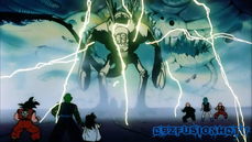 Goku, Piccolo, Krillin, Gohan y Maestro Roshi vs Dr. Wheelo