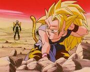 Goku SS3 derrotado