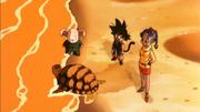 Umigame, Oolong, Son Goku e Bulma - Il Cammino dell'Eroe
