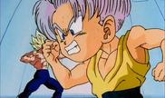 Vegeta s'entraine avec son fils