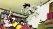 Goku quebra a casa td