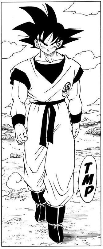 Goku arrives