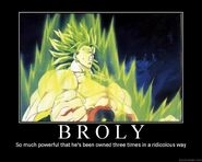 Broly Demotivator by DarkFaust90