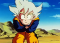 Goten arms around his stomach