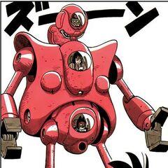 Le Pilaf Machine nel manga.
