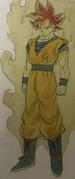 Arte oficial Super Saiyajin Dios