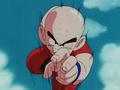 Krillin rushes Piccolo