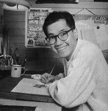 Akira Toriyama al lavoro
