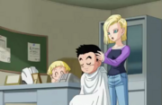 18 taglia i capelli a Crilin
