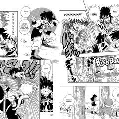 L'esecuzione completa del Rogafufuken nel manga.