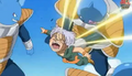 Abo punchs trunks in baxk in if the neck
