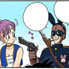 Coniglio 2 minaccia Bulma (manga).