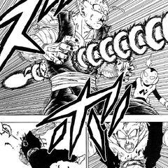 Molo trafigge Piccolo utilizzando il Makankosappo.