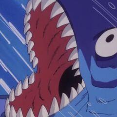 un Pesce Gigante che spalanca le fauci.