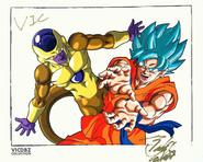 Goku SSGSS Golden Freezer Tadayoshi Yamamuro