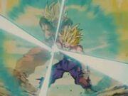 Goku ssj e Gohan ssj2 in Onda Energetica Padre e Figlio