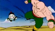 Ten Shin Han y Chaoz en la Tierras de entrenamiento de Mutaito