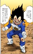 Vegeta derrotado manga