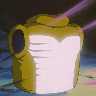 La corazza di Don para che funge da impianto di luci stroboscopiche.