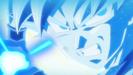 Goku charging God Kamehameha