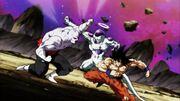 Jiren vs Freezer e Son Goku