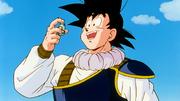 Son Goku riceve la medicina da Trunks del Futuro