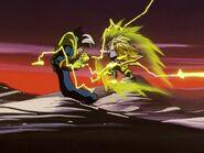 Goku SS3 luchando contra Super Baby 2