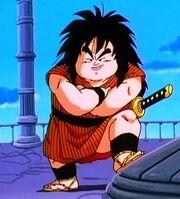 Yajirobe retirado completamente de la lucha, en la Torre de Karin