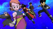 SDBH World Mission CAA Super Ability Subspace Summon X Warriors of Light Assemble (Time Patrol's Warriors of Light - Supreme Kai of Time Chronoa, Xeno Goku, Xeno Gohan, Xeno Trunks, & Xeno Vegeta)