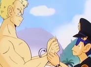 Taro Soramame arrestando al general Blue