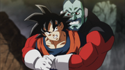 Tupper bear hugs Goku