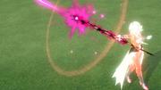DBXV2 Towa Vs. Shenron- Xeno (Warrior from the Demon World Saga) Towa attacking Shenron- Xeno in Age 850 (By Shenron's Might! Restoring History Cutscene 1)