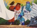 Goz and Mez talk to Goku