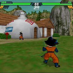 La casa di Goku sul MOnte Paozu in Budokai Tenkaichi 3.