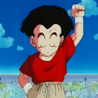 Crilin con capelli lunghi in Dragon Ball Z.