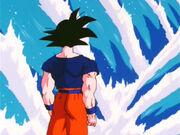 Goku, behind
