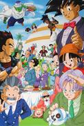 Varios personajes (DBGT) final de fiesta