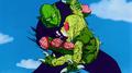 Piccolo punches Saibaman