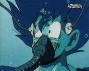 Goku recuperándose en una cápsula