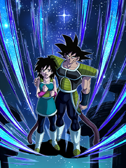 Dokkan Battle Parental Guidance Bardock & Gine japanese card (DB Minus-DBS Broly Bardock & Gine UR)