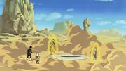 Babidi teleports Goku and Vegeta