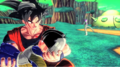 Goku holds dead kid gohan who was killed by fireza
