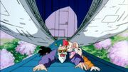 Gohan Krillin Oolon and Master Roshi Getting Abducted