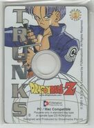 Trunks - Dragon Ball Z Collectible CD Picture Cards