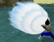 Vegeta firing Final Crash