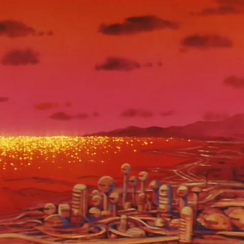 Città dell'Ovest con il tramonto.