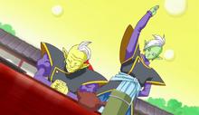 Zamasu tentant de tuer son maître