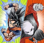 UIS Goku vs Jiren manga color