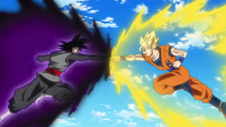 Black vs Goku aura
