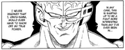 DXRD Caption of Captain Ginyu say he never used his true power - Dragon Ball Manga volume 19 chapter 283
